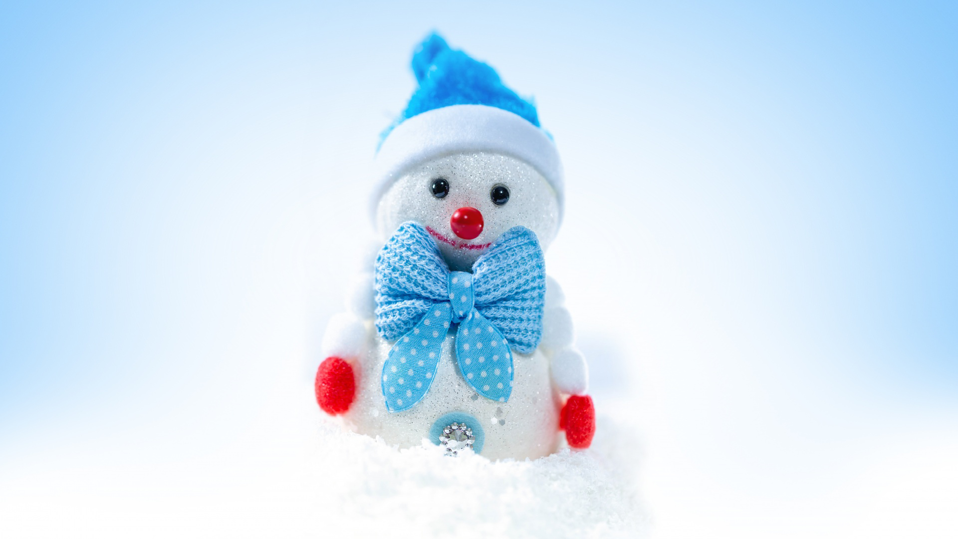Happy Christmas Cute Snowman Winter Free Download Wallpaper