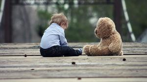 Cute Baby With Teddy Bear Free Download Wallpaper HD