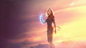 Brie Larson As Captain Marvel Poster Wallpaper Download Free