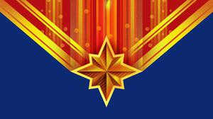 Captain Marvel Logo Art Download HQ Wallpaper