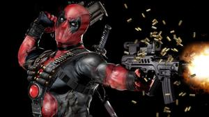 Deadpool Mask Gun Automatic Free Transparent Image HD