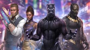 Black Panther Marvel Future Fight Artwork Free Download Wallpaper HD