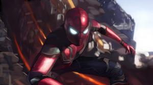 Spider Man In Avengers Infinity War Artwork Wallpaper Free Photo