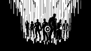 Avengers Minimal Dark Wallpaper Download Free