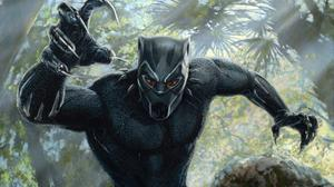 Black Panther Artwork HQ Image Free Wallpaper
