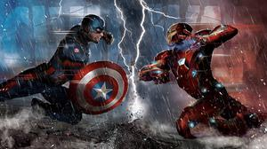 Battle Iron Man Captain America Free HD Image