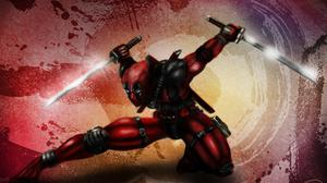 Deadpool Mask Gun Red Suit Wallpaper Download Free