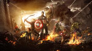 Avengers Fighting HD Image Free Wallpaper