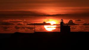 Lighthouse Sunset Background Wallpaper File HD