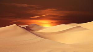 Awesome Sunset Desert Sand Dune Hd Wallpaper File HD