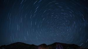 Timelapse Star Trails Free HD Image
