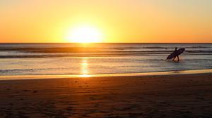 Beach Sunrise Golden View Free HD Image