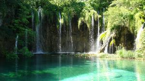 Waterfall In Plitvice Lakes National Park HQ Image Free Wallpaper