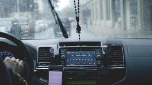 Person Driving Car While Raining Free Transparent Image HQ