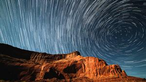 Cliff Star Trails Free Download Wallpaper HD