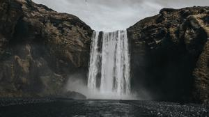 Hills Waterfall View Free Download Image