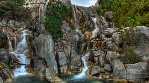 Rocks Waterfall And River Download HD Wallpaper