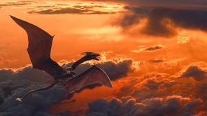 Flying Dragon Sunset Free HD Image
