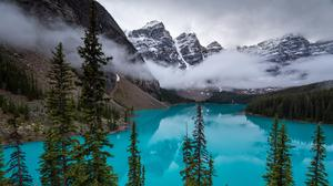Moraine Lake, Canadian Rockies Free Photo Wallpaper