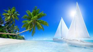 Summer Tropical Beach Paradise Free Download Image