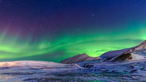 Aurora Borealis Winter Download HQ Wallpaper