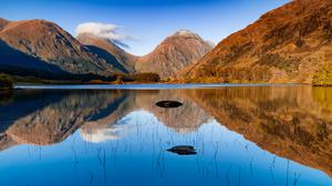 Lochan Urr, Glen Etive, Highlands Of Scotland... Download HD Wallpaper