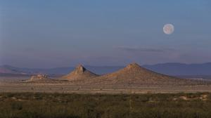 Desert Mountains And Sky Moon Hd Download HD Wallpaper
