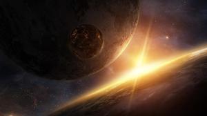 Planet Rays Light Wallpaper Free Photo
